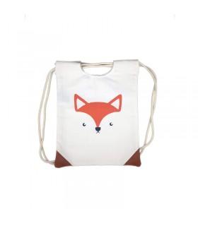 کیف پارچه ای(کوله پشتی) طرح روباه